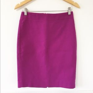 J.Crew Purple Pencil Skirt Size 0
